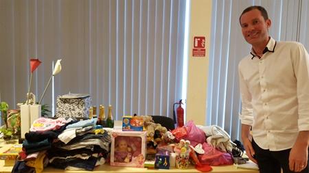 Nicolas Bulle et ses cadeaux : notre Père Noël de septembre